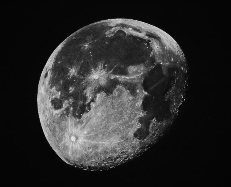 Superbe dessin de la lune - Dessin de lune ...